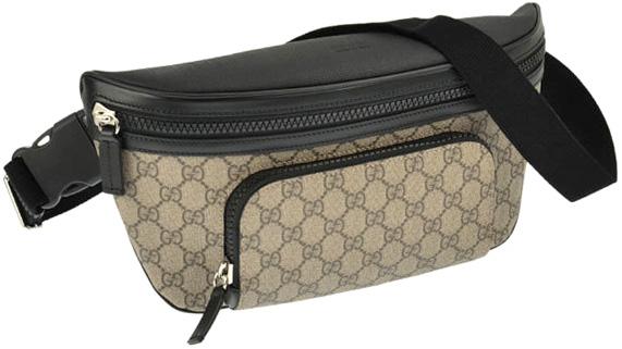 adb684e5bf6c1c GUCCI Gucci hip bag beige x Brown bags body bag coating GG canvas bag ebony  GG
