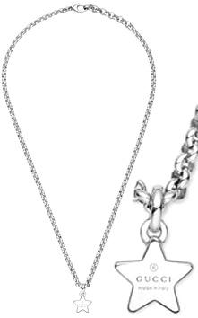 GUCCI グッチ ペンダントネックレススタープレートトップスターリングシルバー 0702 星型ユニセックス メンズ レディース 男女兼用トレードマーク スターペンダントPENDANT Trademark necklace