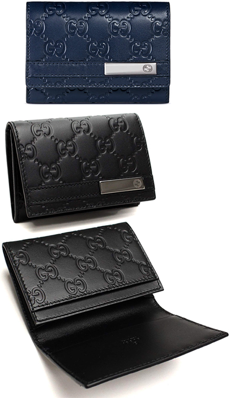 Kaminorth shop rakuten global market business card holder card business card holder card guccissima leather member type down calf two fold fold gucci gucci gg icon smoothtop scarf leather two mens black dark navy blue colourmoves