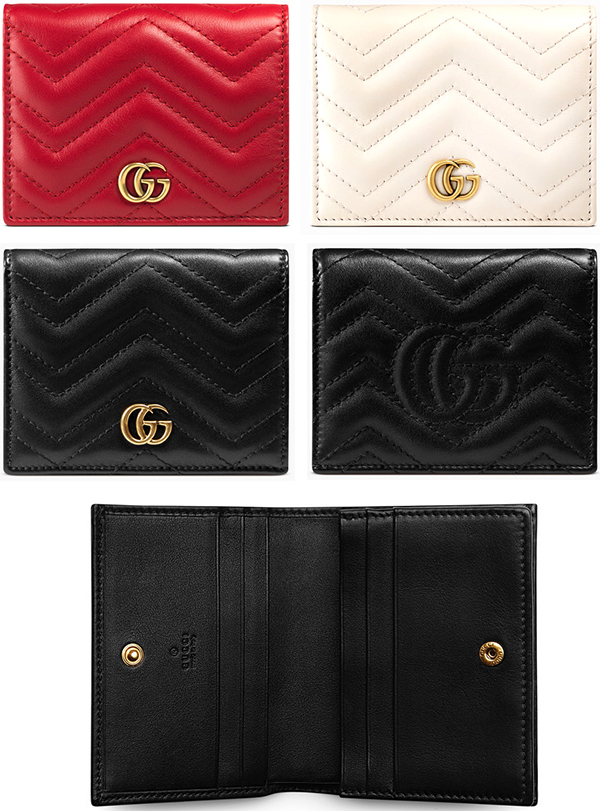 3cd9b403241a23 Business card holder, card case two fold fold GUCCI Gucci GG Marmont logo  double G ...