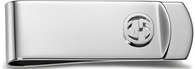 GUCCI グッチ マネークリッププチラウンド凸インターロッキングロゴお財布を持つのが嫌な方へスターリングシルバー お札クリップ裏面ロゴ刻印 サイフ 財布 さいふ8116SL MONEY CLIP