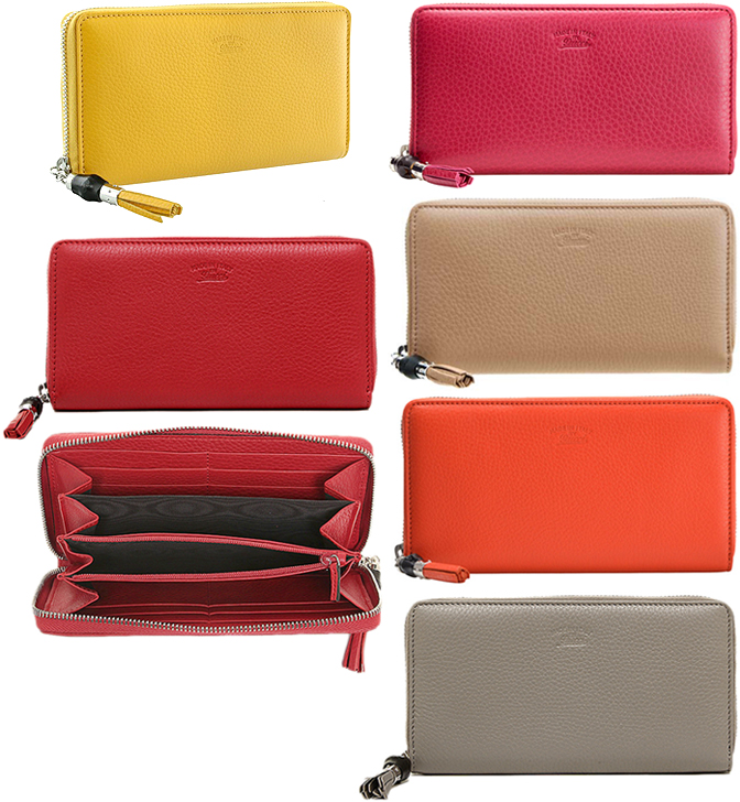 925a779e040480 GUCCI Gucci bamboo tassel rubx zip around wallet embossed inside yellow  dark pink orange rose beige ...