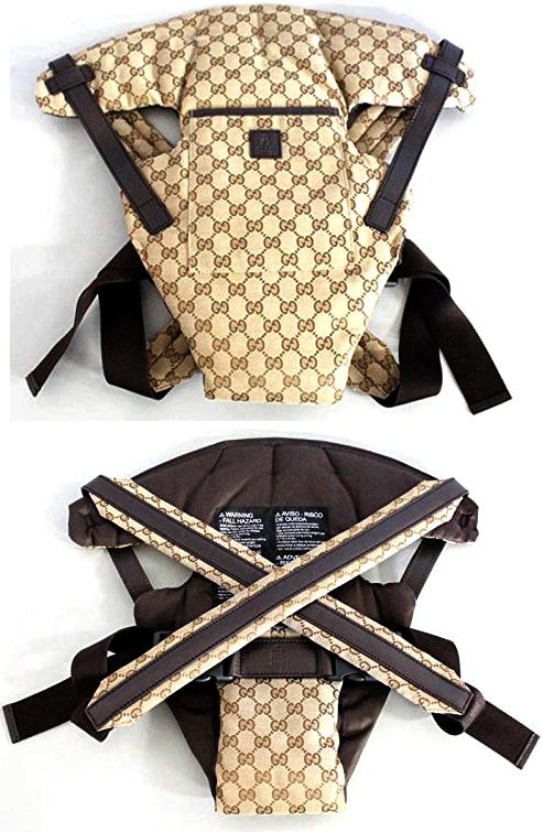 87877f5cd142 ... GUCCI Gucci GG fabric hug strap GUCCI ZOO applique bird baby carrier  fabric × (