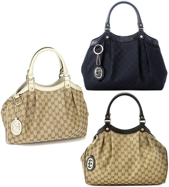Gucci Sukey Gg Canvas Handbag Tote Bag Interlockovaltag Semishoulder 211944 F 4c2g8612 Beige Champagne Back