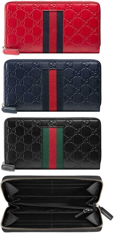 045d11874d2c Round fastener long wallet Web line Gucci sima leather red black dark  navy-blue green GG icon WEB LINE 6473RE8497NV1060 signature Web stripe  leather zip ...
