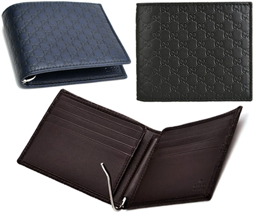 4f271741e93dac Occasion wallet men Gucci sima leather folio wallet navy black dark brown  micro Gucci sima leather