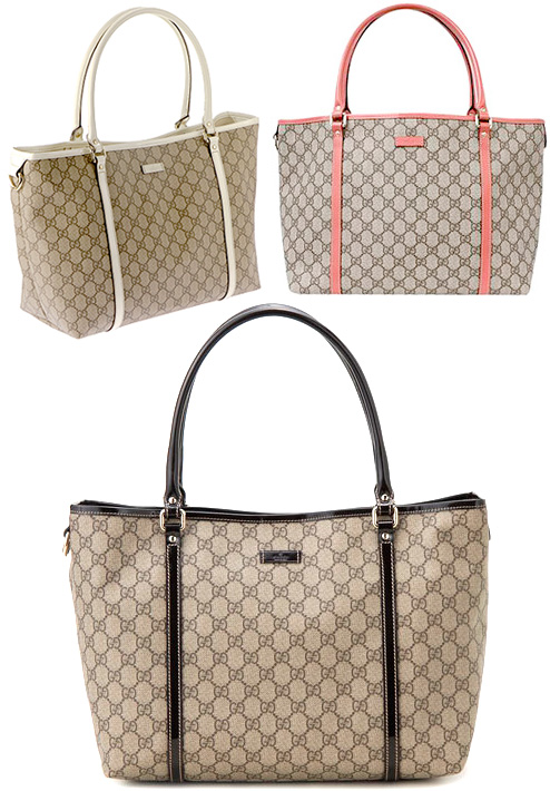 c2971c747 GUCCI Gucci JOY PVC coating medium Tote handbag GG plus beige / coral  (metal: