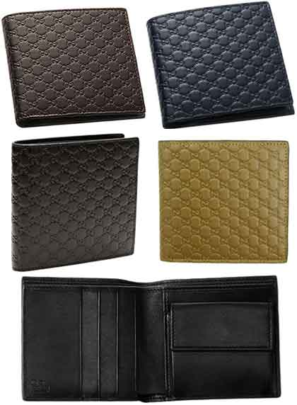 70d2f82808bf8f Two folio wallet micro Gucci sima leather navy black brown dark brown wallet  type push calf-leather fold wallet length card slit Shin pull line ...
