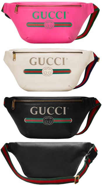 6373da5369070d GUCCI Gucci body bag vintage nostalgic logo waist porch hips bag bum-bag  black pink white 8164BK8842PK leather belt bag 8821WH cotton linen lining  men gap ...