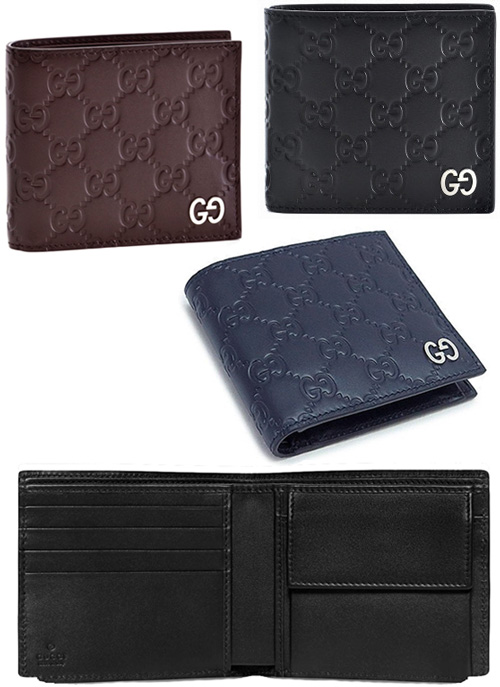 19c0b905779b55 Two folio wallet micro Gucci sima leather black dark brown brown dark  navy-blue coin wallet type push calf-leather fold wallet MICRO GUCCISSIMA  Shin pull ...