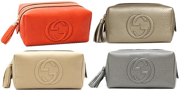 bd8207e15 ... GUCCI Gucci makeup porch accessory case エンスインターロッキング GG logo cosmetics  porch type push leather ...