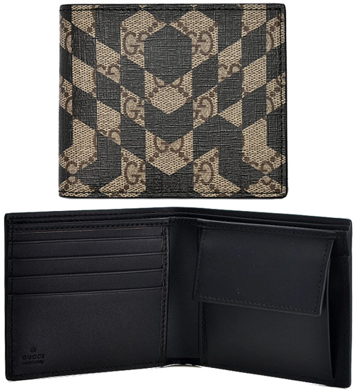 5f579abe6022 Folio wallet GG boyfriend id pattern GG スプリームキャンバスベージュ X dark brown CALEIDO  9769BEDBR two fold wallet PVC coating canvas coin wallet coating ...