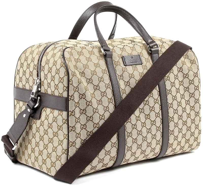 758ad5736 GUCCI Gucci 2-WAY Boston bag coated GG canvas beige x Brown GG Crystal PVC  ...