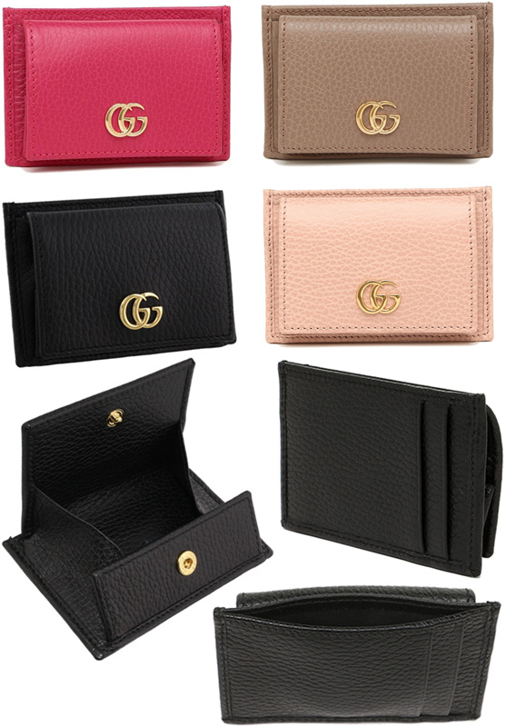 8b78237b70 Business card holder, card type hold calf two fold fold GUCCI Gucci GG icon  members interlocking logo engraved cover plate type calf two mens black ...