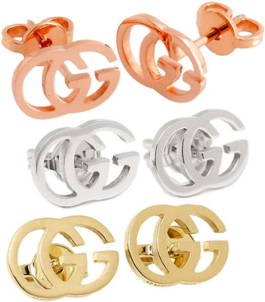 GUCCI グッチレディースピアスインターロッキングGロゴGGスタッズピアスホワイトゴールド イエローゴールドピンクゴールド アクセサリー9000WG8000YG5702PGGG STUDS Earrings Piercies