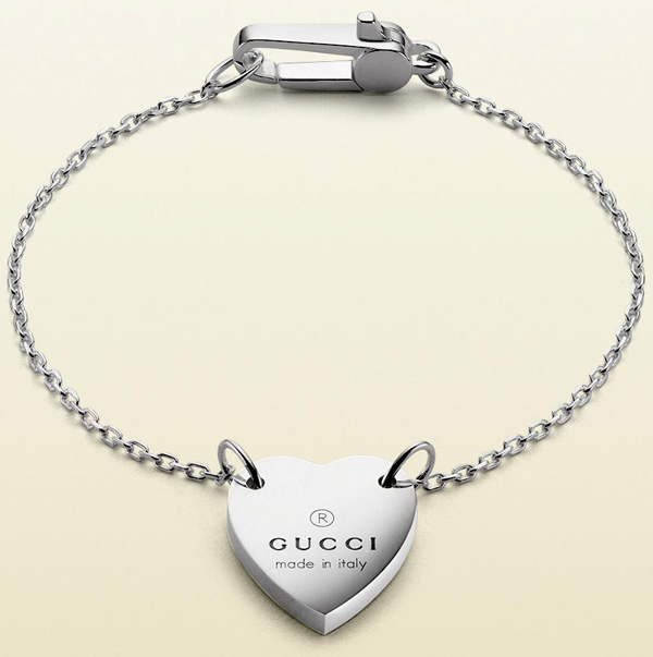 a81c323c3980 GUCCI Gucci chain bracelet sterling silver rhodium machining BRACELET logo  stamped coins of AZA buckle mens Womens unisex double Venetian hook 0702  size 16 ...