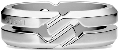 GUCCI RING グッチ リングメンズ レディース 男女兼用指輪 ペアリングとしてもOKプレスロゴ ノットスターリングシルバー 8106SL 925SVロゴ刻印 アクセサリー