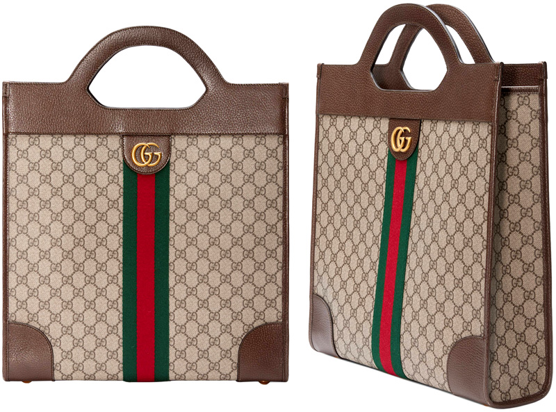 fe0d2a3972c GUCCI Gucci tote bag antique gold double G logo coating GG canvas green X  red center Web line GG スプリームキャンバスベージュ X brown strike comfortable ...
