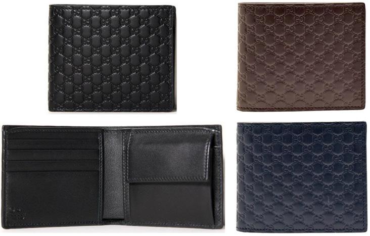 4ce4d9fd809e GUCCI Gucci purses coin purse 2 fold wallet mens micro guccissima 146223  BMJ1R grey Navy blue