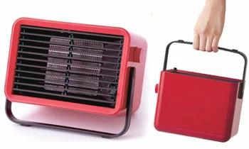 持ち運び自由のミニヒーターインテリア暖房器具コンパクトセラミックファンヒーター送風もできてあったかあったかリビングや脱衣所、寒い日のベランダでの洗濯物の物干しの際など大活躍!超小型の持ち運びも簡単な暖房器具