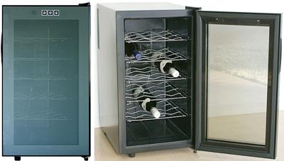 庫内LED照明灯で優しい光で照らす低振動ペルチェ方式の静音設計UVカットガラスで紫外線をカットご家庭でワインを静かに美味しく保管フラットタッチパネル採用18本収納コンパクトワインセラー設定温度デジタル表示ワインクーラー ワイン保冷庫