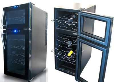 上下2層の独立型で個別に温度を設定可能2ドアワインセラー低振動ペルチェ方式の静音設計UVカットガラスで紫外線をカットご家庭でワインを静かに美味しく保管21本収納コンパクトワインセラー設定温度デジタル表示ワインクーラー ワイン保冷庫
