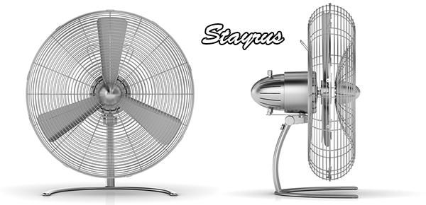 風量を求めるなら大きな羽根シンプルレトロモダンφ45cmのビッグフロアファン首振り&角度調整可能風量調整つまみスイッチアルミシルバー扇風機 インテリアファンキッチン、トイレの空気の入れ替えに風呂上りの洗面台に大活躍