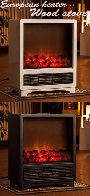 見ているだけで暖かいリビングやキッチンに1台電気式温風ファンヒーターランプ照度調整可能薪を燃やし揺らぐ炎で暖かな暖炉をモチーフしたライティング電気温風暖炉型ファンヒーター安全にお部屋を暖かく暖房器具 電気ストーブ
