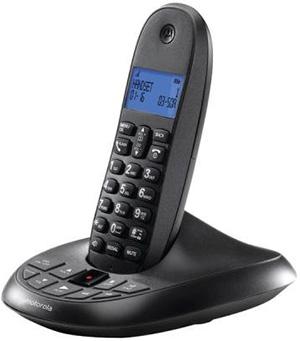 Motorola モトローラデジタルコードレスフォン盗聴がされ難くクリアな音声通話が可能なDECT6.0方式採用デジタル留守電話機能付き電話機親機もコードレス ブラック ブルーLCDディスプレイCordless Telephone 親機のみ 子機売り切れ