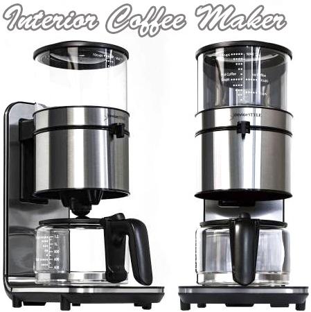 適正な温度とスピードで美味しいコーヒーを味わえるインテリア性の優れた本格派のドリップ式コーヒーメーカーコーヒーのうまみを逃さない高温製法アイスコーヒーも楽しめるCOFFEE MAKER SALVEシルバー 1.3リットルガラスポット