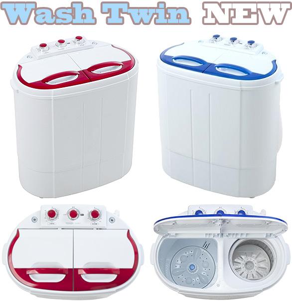 超小型コンパクトミニ洗濯機ホワイト2槽式で洗濯&すすぎをしながら脱水が可能ペット用品や下着、赤ちゃんやお年寄りの衣類の分け洗いなどに便利 レッド ブルータイマー付きで給水&排水 スイッチを回すだけ簡単操作一人暮らしやアウトドアにも大活躍