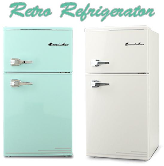 レバーハンドルコンパクト2ドア冷蔵庫新生活や一人暮らしにピッタリなサイズツードアミニ小型直冷式冷凍冷蔵庫 オフホワイト ミントグリーンジュース&ビール&お水冷凍室25L+冷蔵室60Lひとり暮らしの方にもオススメ7段階温度調整可能