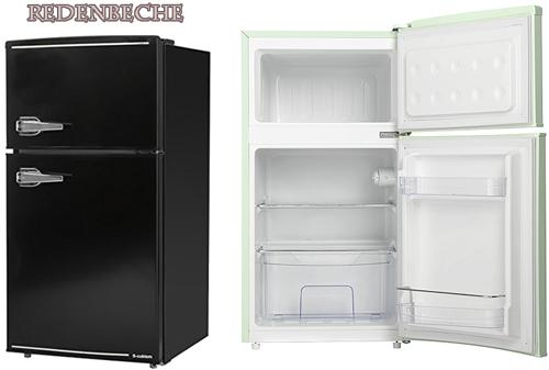 レバーハンドルコンパクト2ドア冷蔵庫新生活や一人暮らしにピッタリなサイズツードアミニ小型直冷式冷凍冷蔵庫ブラック オフホワイト ミントグリーンジュース&ビール&お水冷凍室25L+冷蔵室60Lひとり暮らしの方にもオススメ7段階温度調整可能