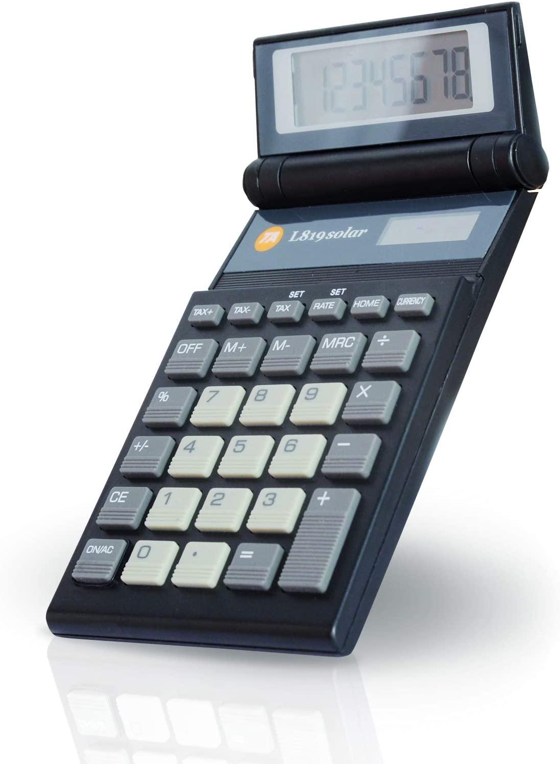 シックトーンスタイル計算機 ブラック×グレーフラップ付きカリキュレーター 電卓仕事場でもデザインにコダワルならコレドイツのフランクフルトの伝統的計算機メーカー液晶部分が折りたためるデザイン Calculator実用性の高いコンパクトな計算機