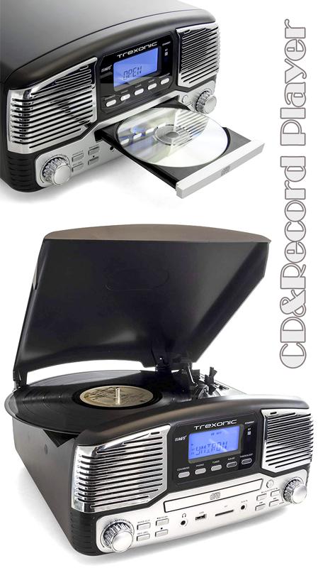 ブルートゥース搭載アンティーク レコードプレイヤー&CDプレイヤーRETRO ANTIQUE RECORD & CD MUSIC PLAYERクラシック ジュークボックス CD搭載ターンテーブル SDやUSBメモリの音楽データを再生可能