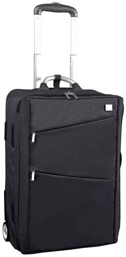LEXON AIRLINE CABIN TROLLEYレクソン キャスター付きスーツケース収納式ハンドルホイール付きアタッシュケースカバン、バック、鞄キャビントロリーバッグキャリーバッグブラックトラベルバッグ