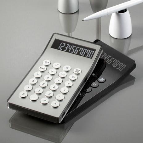 LEXON 計算機ブラック シルバー 電卓レクソン 丸ボタン仕事場でもデザインにコダワルならコレ!10桁カリキュレーター アルミ プラスチックケースCalculatorデザイナー Baptiste Lanne