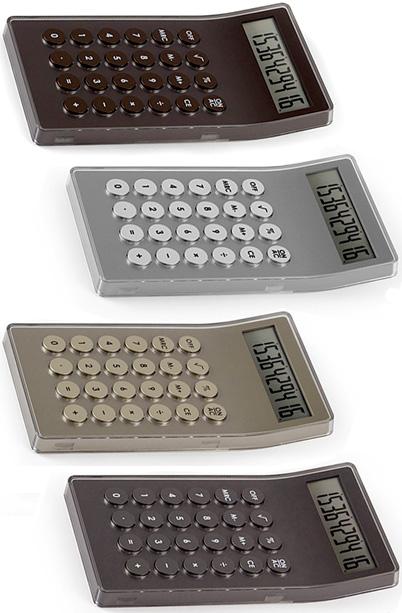 デザイン家電 LEXONデザイナーズ電卓オートパワーオフ機能付きスマート計算機シャンパンゴールド ガンメタブラック アルミシルバー ブラウン丸ボタン仕事場でもデザインにコダワルならコレレクソン 10桁カリキュレーター
