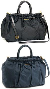 3d1e9d22987a PRADA Prada mini Boston bag tested nylon bow 2-WAY shoulder bag handbag  black Denim Blue TESSUTO BOW BN1845 NERO DENIM satchel bag back bag