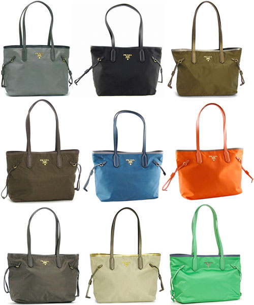 723813b84cc7a ... clearance prada prada tote bag black orange brown grey ivory khaki navy  blue light green tested