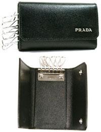 PRADA プラダ6連キーケースメンズ キーホルダーブラック NERO レターロゴCORNER 2M0025 SAF COR BH825001BICOLORE SAFFIANOブラック×ダークネイビーダークネイビー×グレーBALTICO+MERCURIO NERO+BALTICO