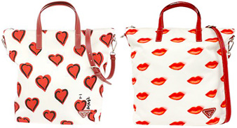 lips print shoulder bag - Red Prada 9qowBPl