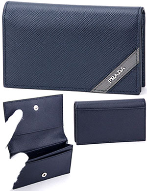 Kaminorth shop rakuten global market business card holder card business card holder card cases prada prada 2 fold saffiano thrash metal logo dark navy colourmoves