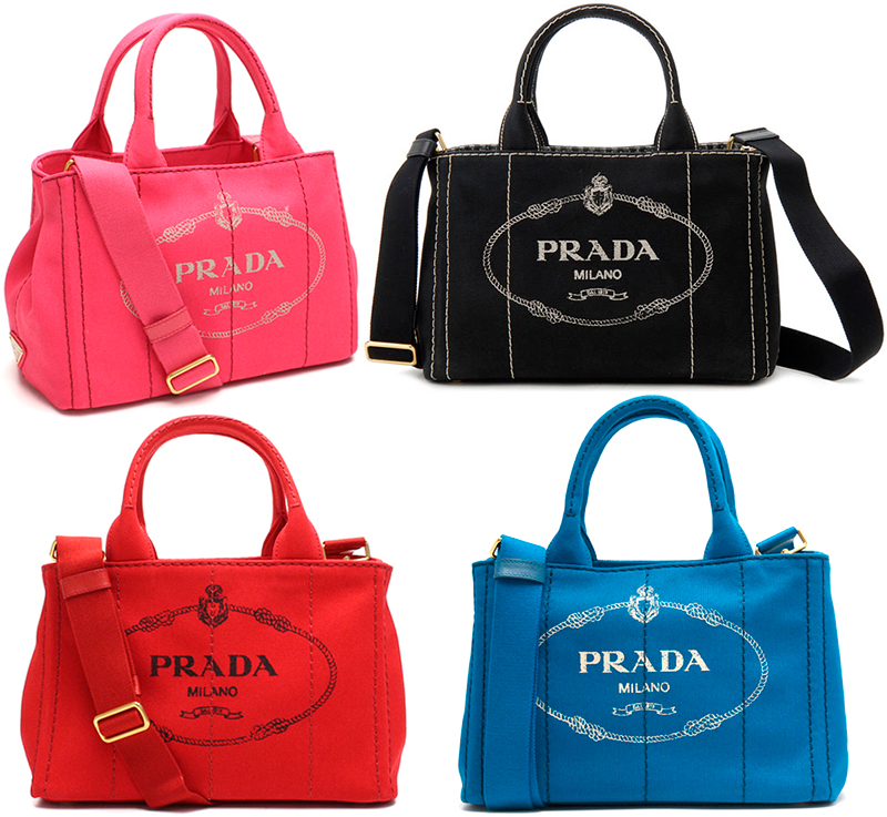 1bbfcf481bae ... Take PRADA Prada handbag 2WAY canvas shoulder bag side triangle logo  plate logo crest print denim ...