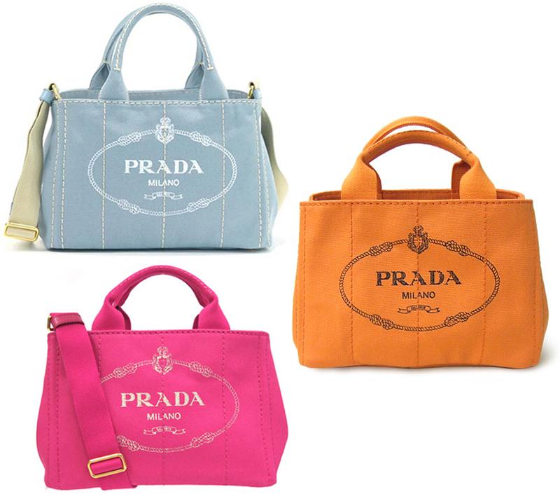 380c08d8daac Take PRADA Prada handbag 2WAY canvas shoulder bag side triangle logo plate  logo crest print denim ...