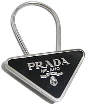 PRADA プラダ 三角ロゴプレートキーリングメタルルロゴプレート ループーフックキーホルダーダークネイビー ブラック ダークレッド グリーンシルバー リングホルダーACCIAIO SMALTBALTICOF0216DNV NEROF0002BK RUBINOF0041DRE