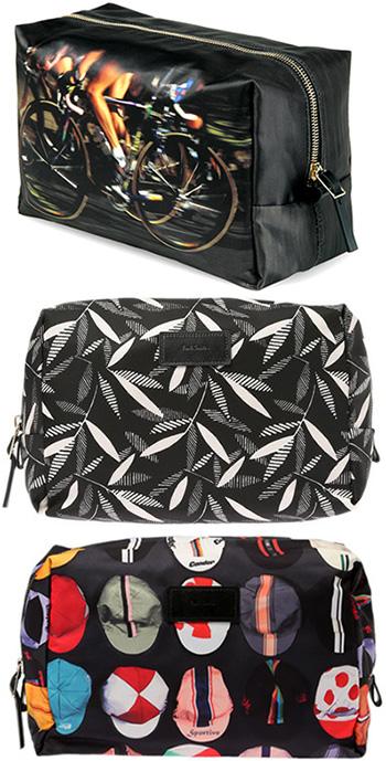 Paul Smith ポールスミスセカンドポーチ 小物入れプリントコレクションスプリントサイクリング モノトーンローワンリーフ サイクリングキャップ鞄 ハンドバッグ セカンドバッグかばん カバン 鞄 BAG POUCH