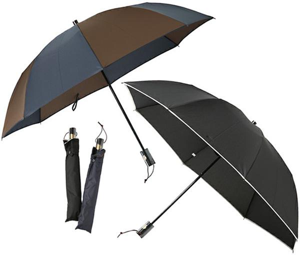 Paul Smith ポールスミス 折り畳み傘ブラック×パイピングホワイトネイビー×ブラウン コレクションクラウンロゴプレート付き取っ手雨季の通勤通学の必需アイテム雨の日もおしゃれを忘れずにアクセサリー かさ カサメンズ レディース バイカラー