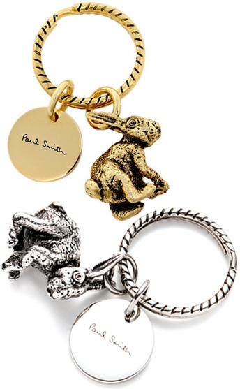 Paul Smith Paul Smith rabbit charm Keyring silver key ring rabbit rabbit ring  holder mens Womens unisex Hook nodded 822641791
