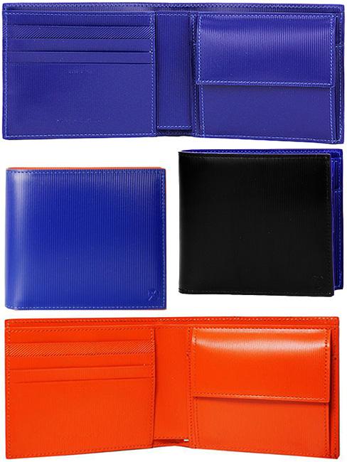 有Paul Smith Paul Smith人硬币袋的对开钱包P/S凸形花纹标识黑色×蓝色蓝色×红再者经由2个机会钱包钱包钱包钱包PS BY ATXD79BKASXDBL BILLFOLD AND COIN WALLET